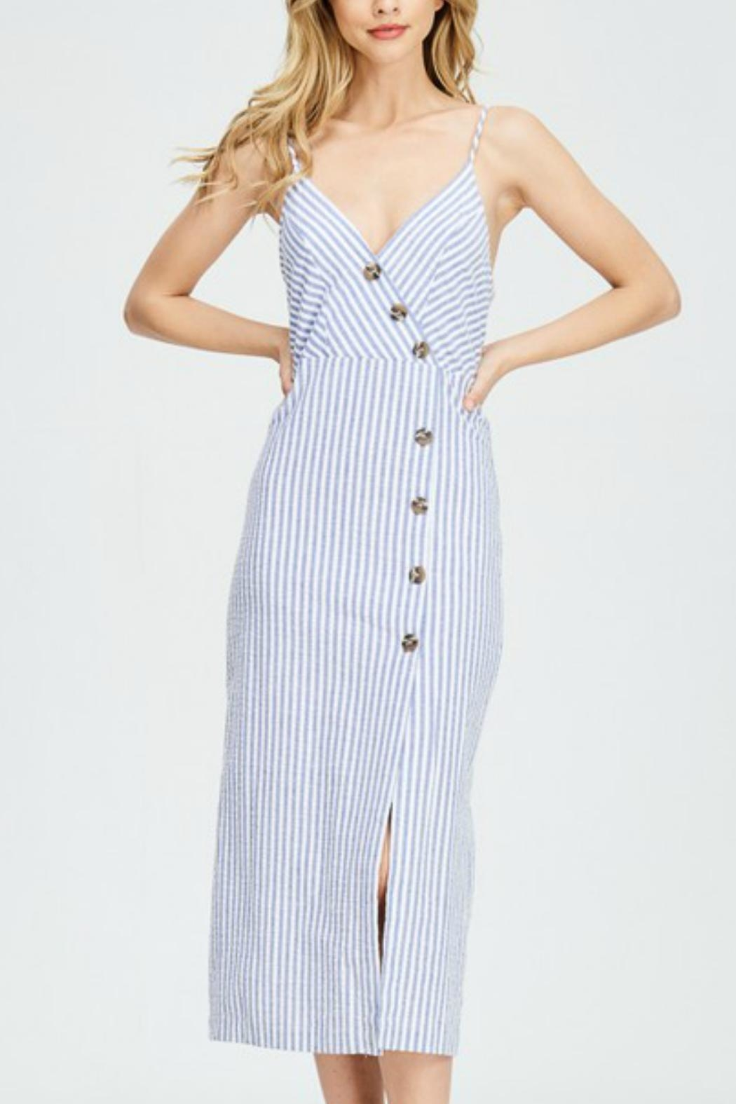 Hello Miss Button Up Dress - Back Cropped Image