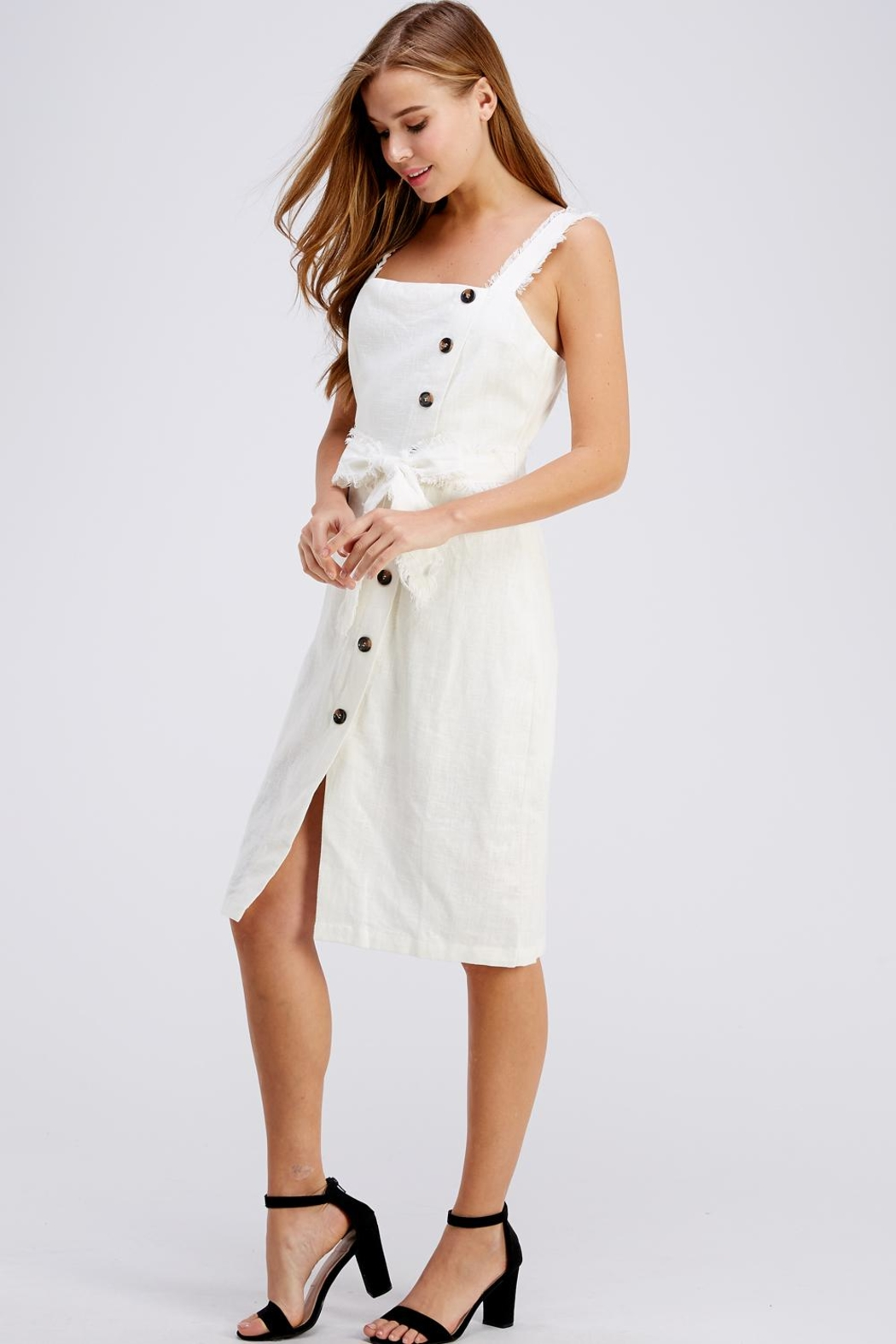 Gilli Button Up Dress - Front Full Image