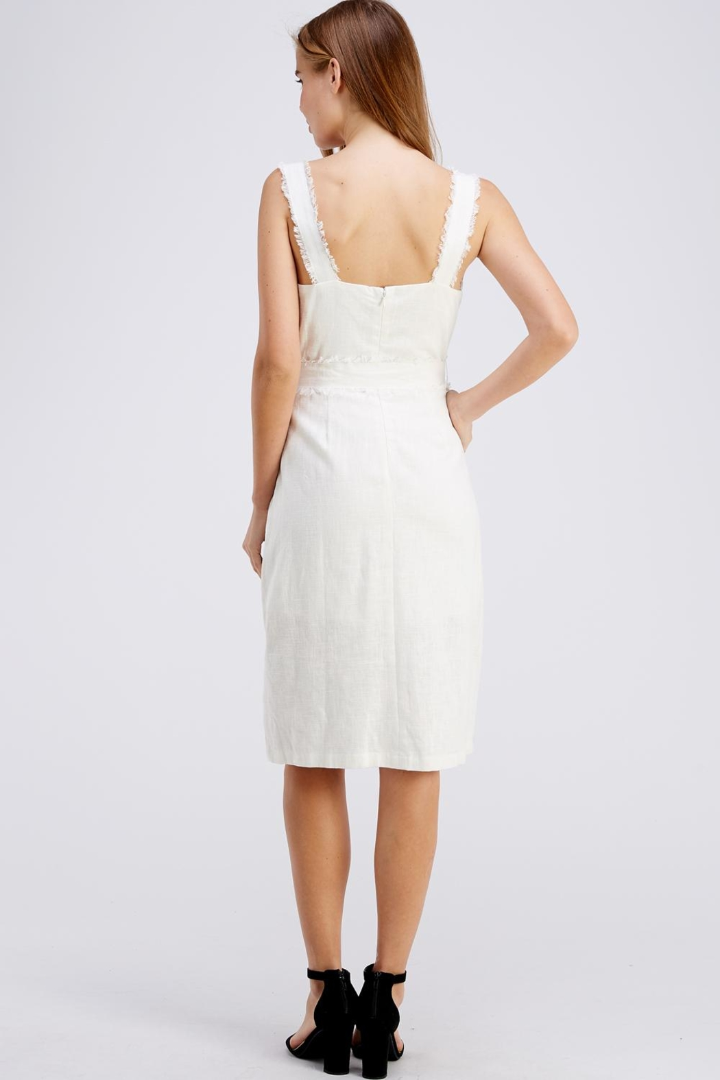 Gilli Button Up Dress - Back Cropped Image