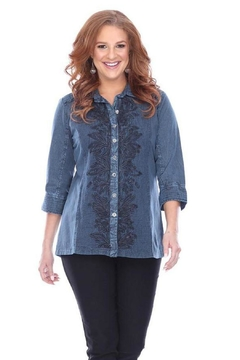 Shoptiques Product: Button-Up Embroidered Tunic