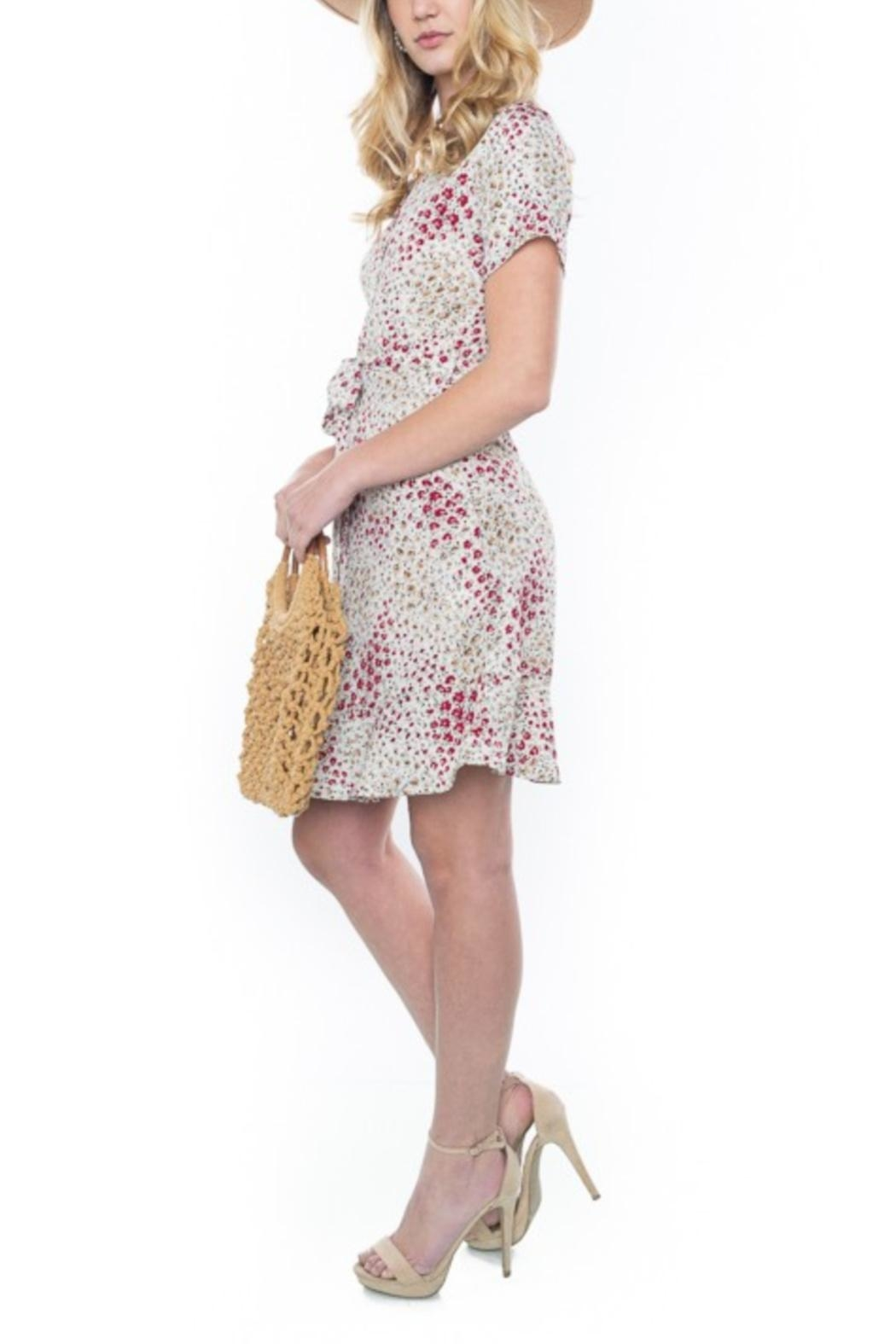 rokoko Button-Up Floral Dress - Front Full Image