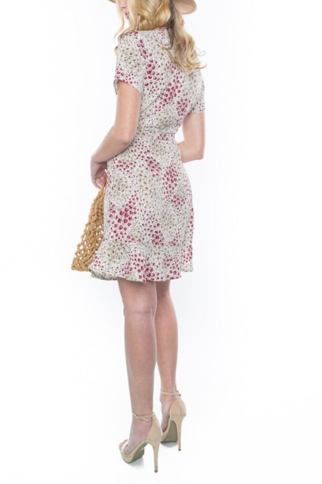 rokoko Button-Up Floral Dress - Side Cropped Image