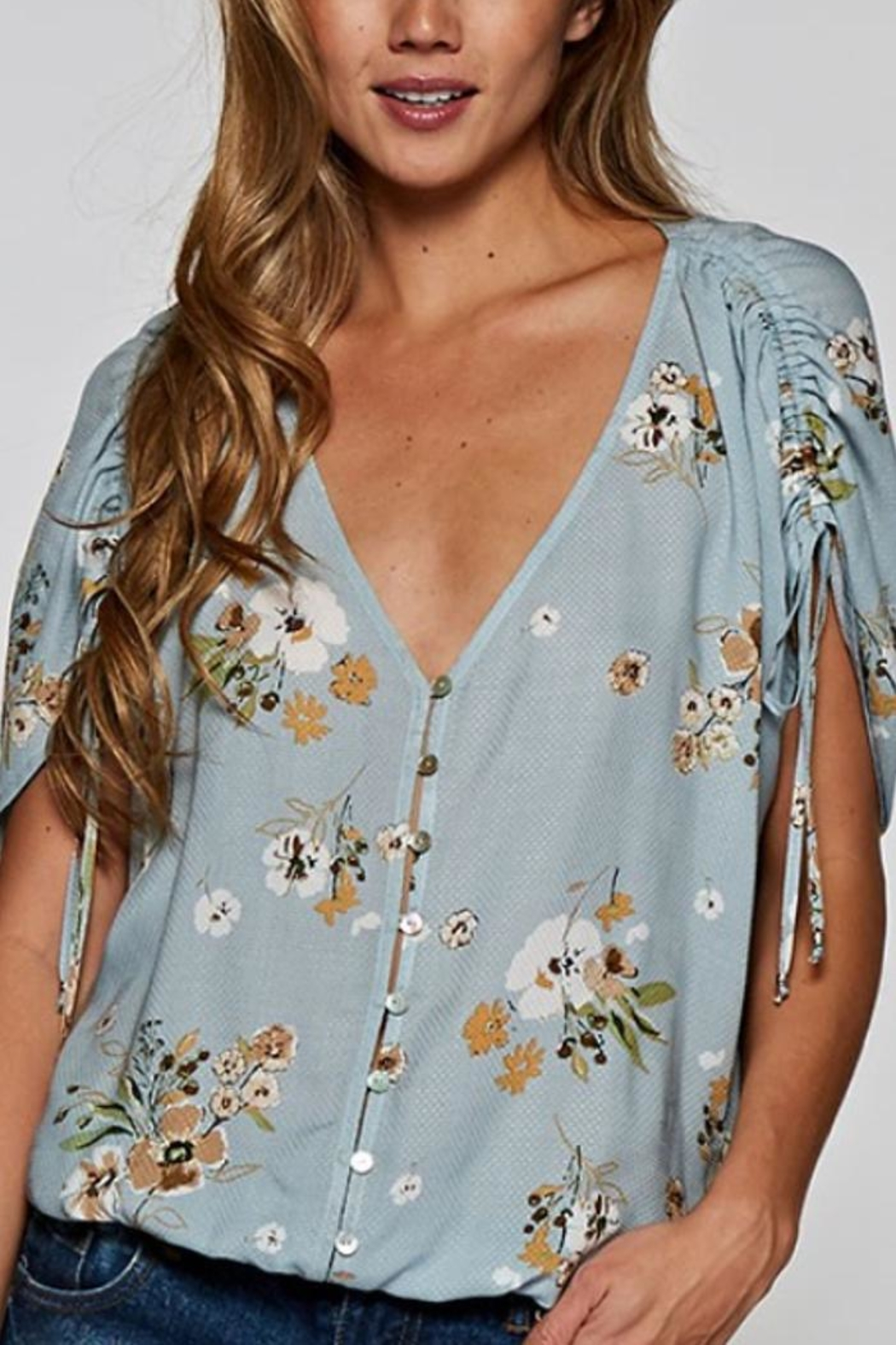 Lovestitch Button-Up Floral Top - Main Image