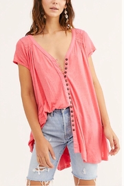 Free People Button-Up Flowy Tee - Product Mini Image