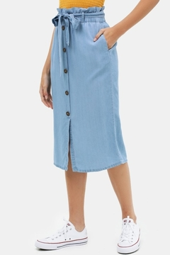Love Tree  Button Up Mid length Skirt w/ Belt - Product List Image