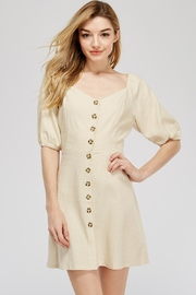 Lush Button-Up Mini Dress - Product Mini Image