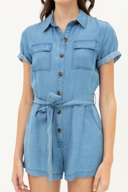 Love Tree  Button Up Romper - Side cropped