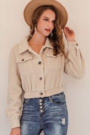 Esley Button Up Sherpa Coat - Product Mini Image