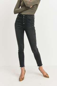 just black Button Up Skinny - Product List Image