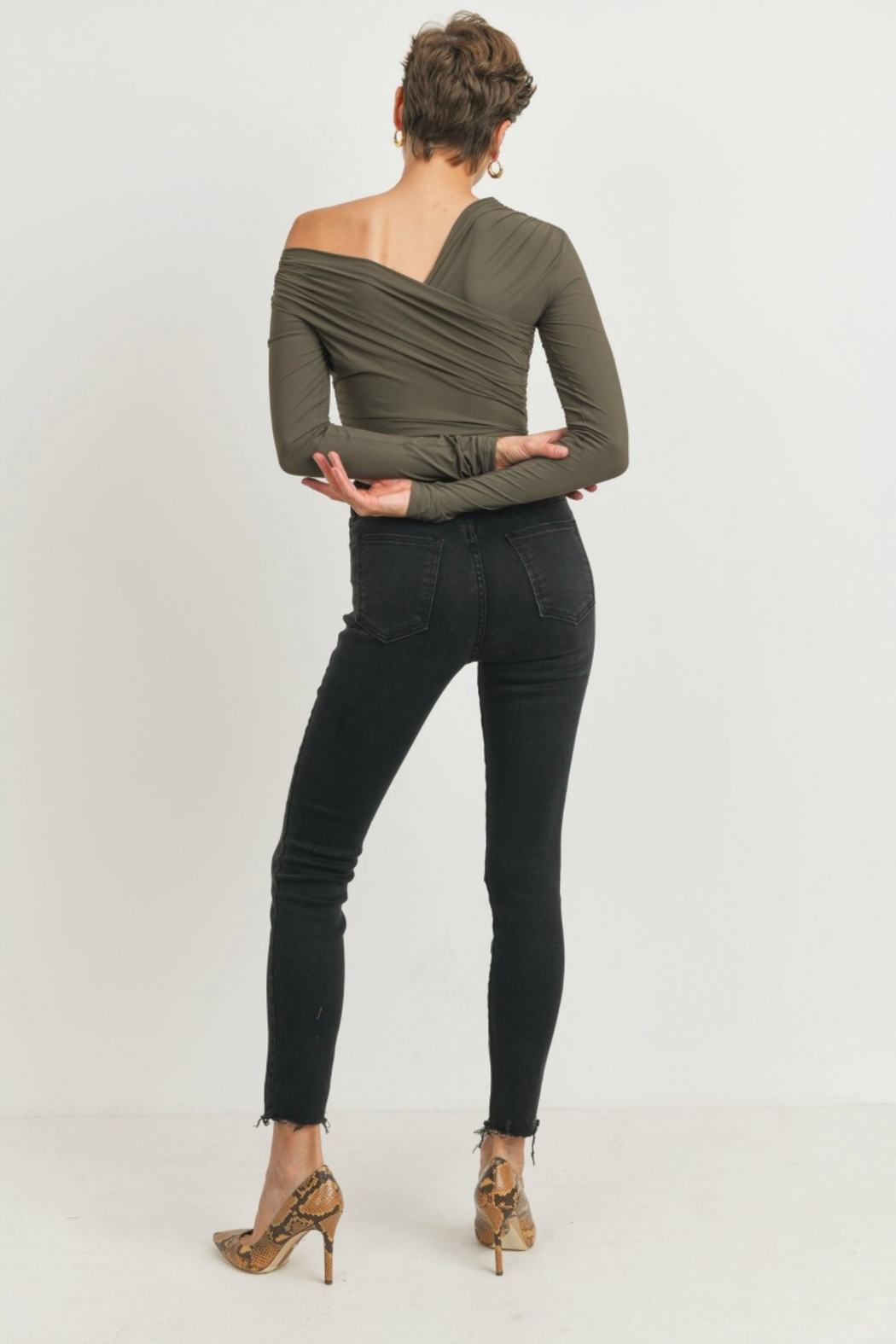 just black Button Up Skinny - Side Cropped Image