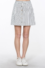 En Creme Button Up Skirt - Front cropped