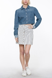 En Creme Button Up Skirt - Side cropped
