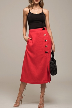 Moon River Button Up Skirt - Product List Image