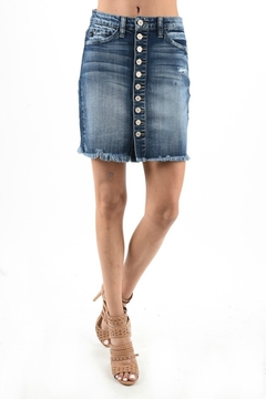 Kan Can Button Up Skirt - Product List Image