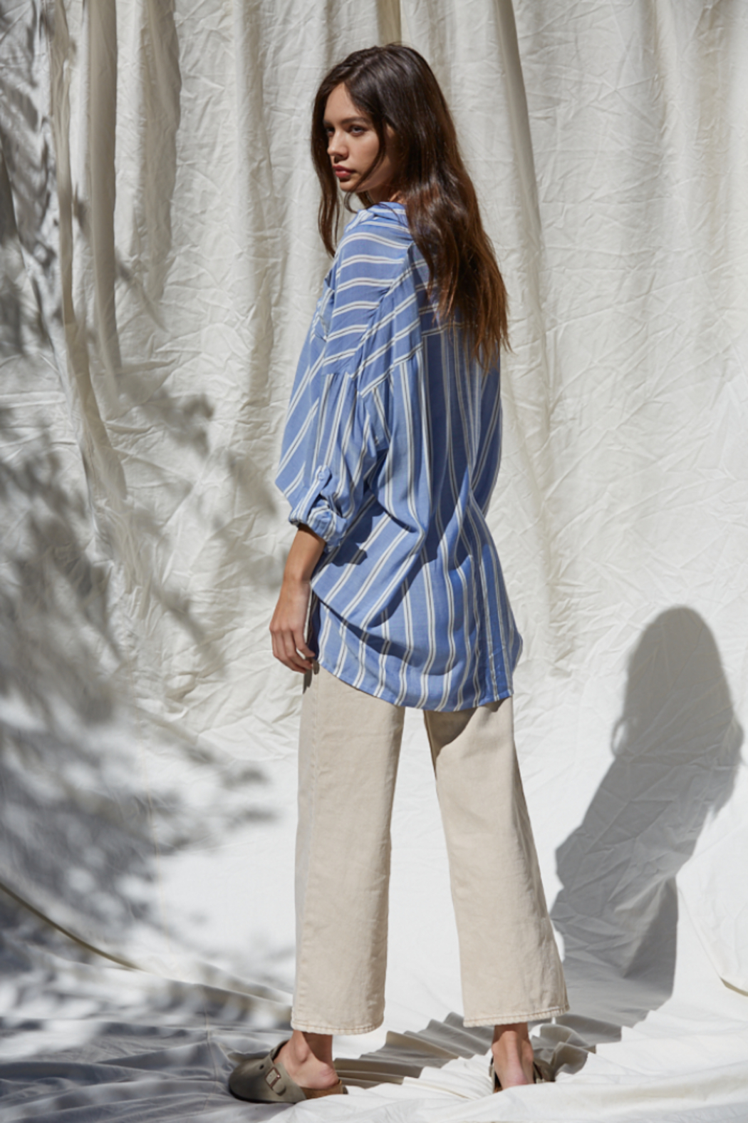 By Together Button Up Striped Top - Front Full Image