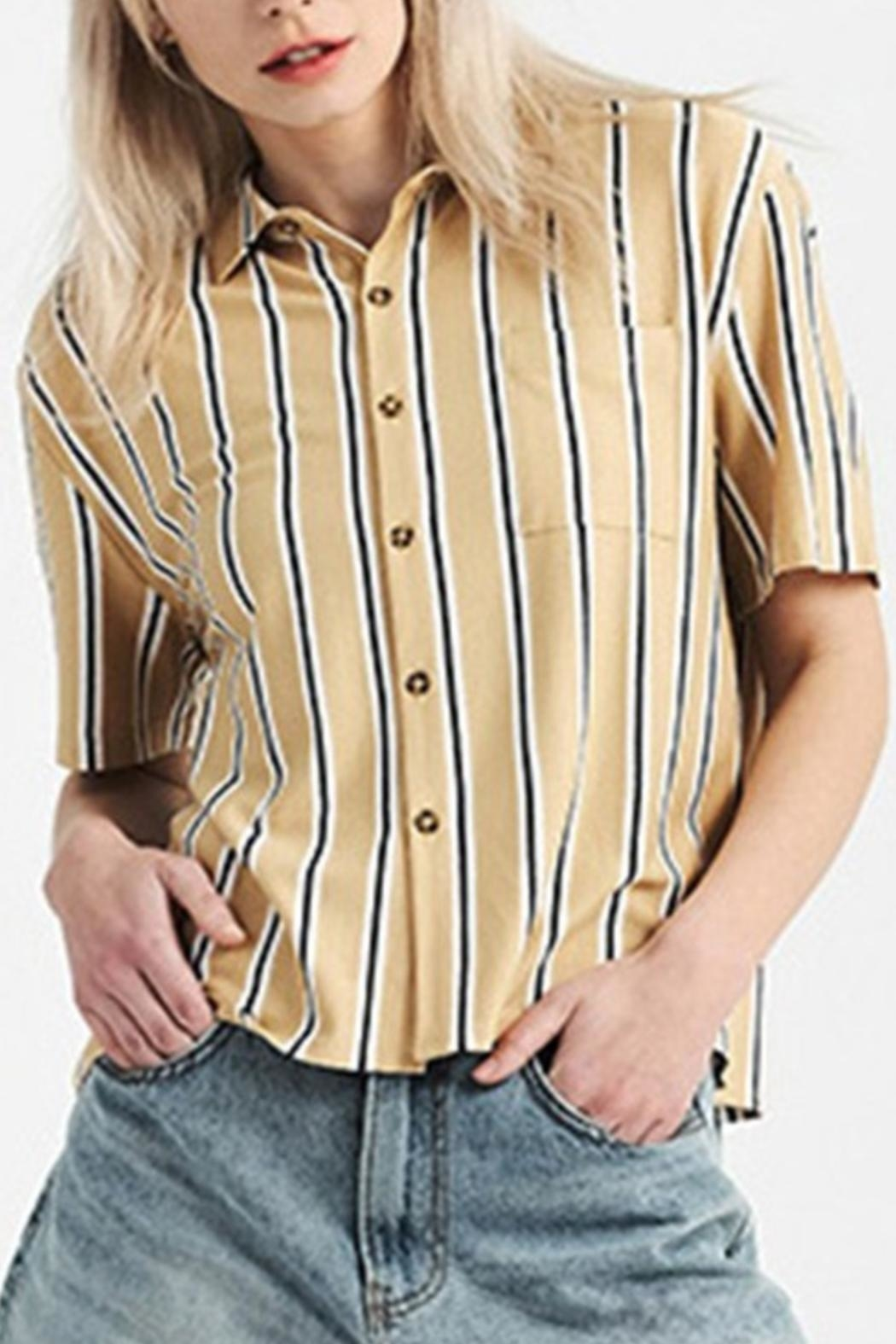 Double Zero Button Up Top - Main Image