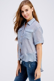 Favlux Button Up Top - Side cropped