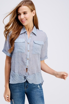 Favlux Button Up Top - Product List Image