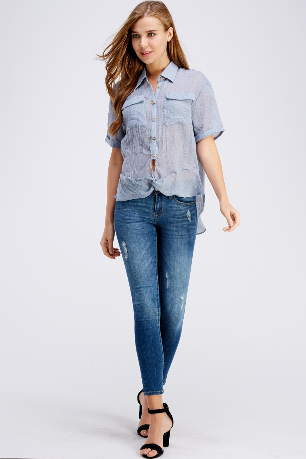 Favlux Button Up Top - Front Full Image
