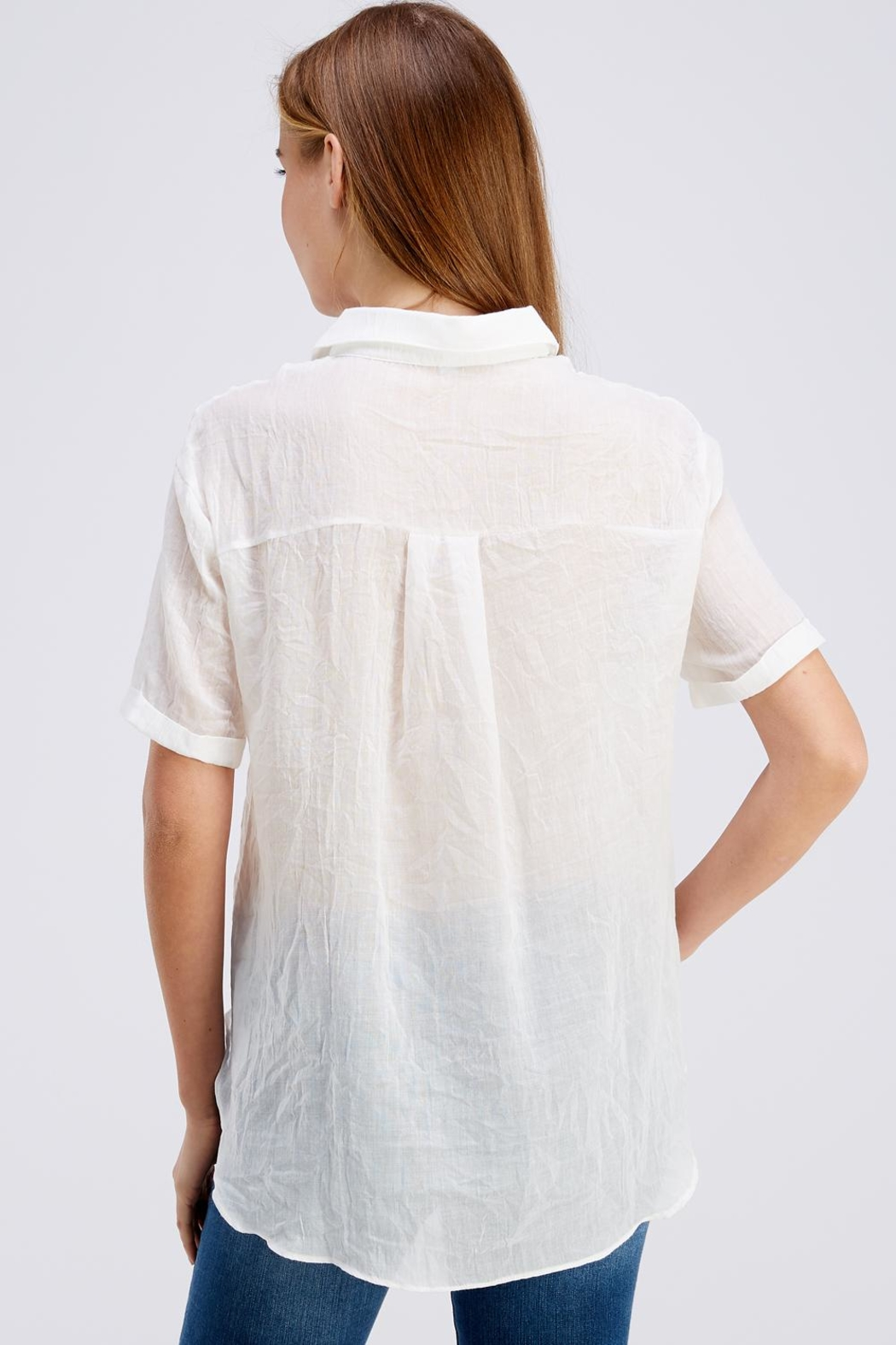 Favlux Button Up Top - Back Cropped Image