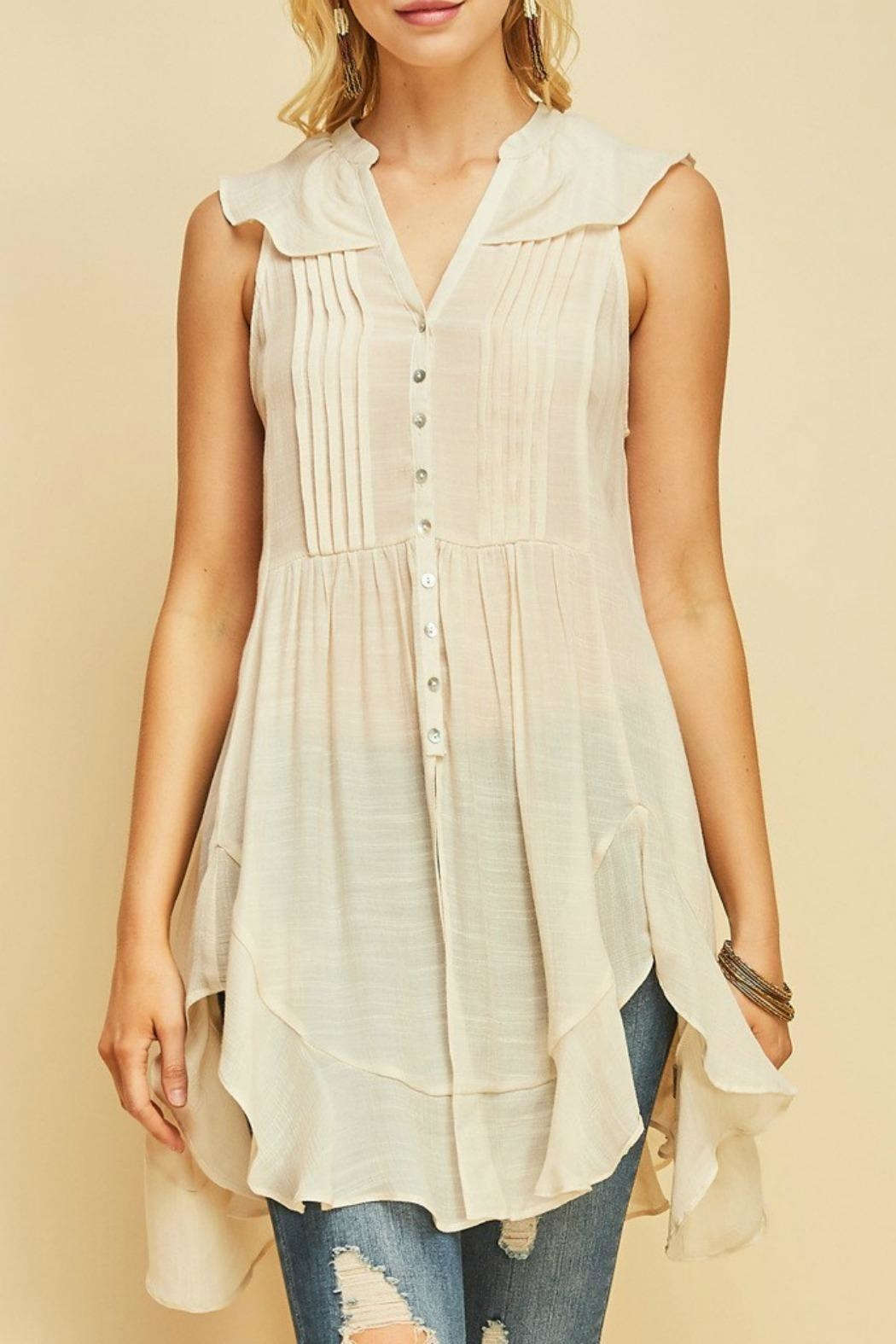MHGS Button Up Tunic - Front Cropped Image
