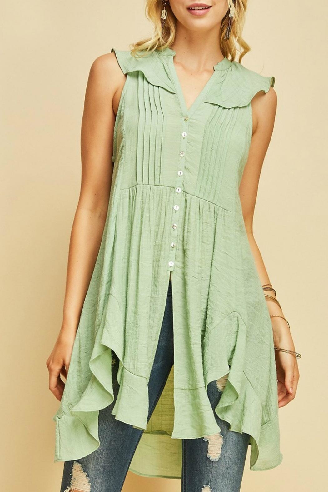 MHGS Button Up Tunic - Front Full Image