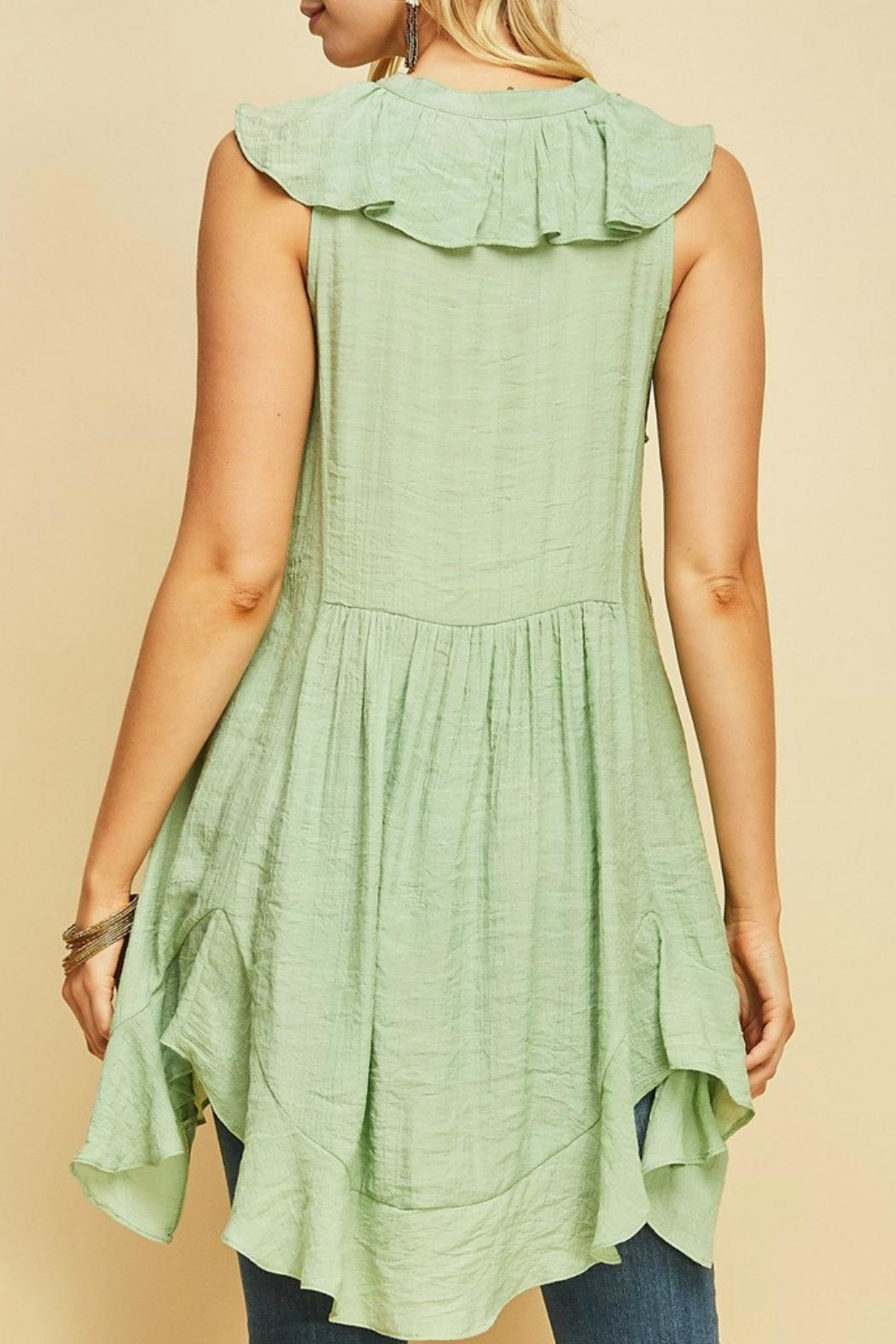 MHGS Button Up Tunic - Side Cropped Image
