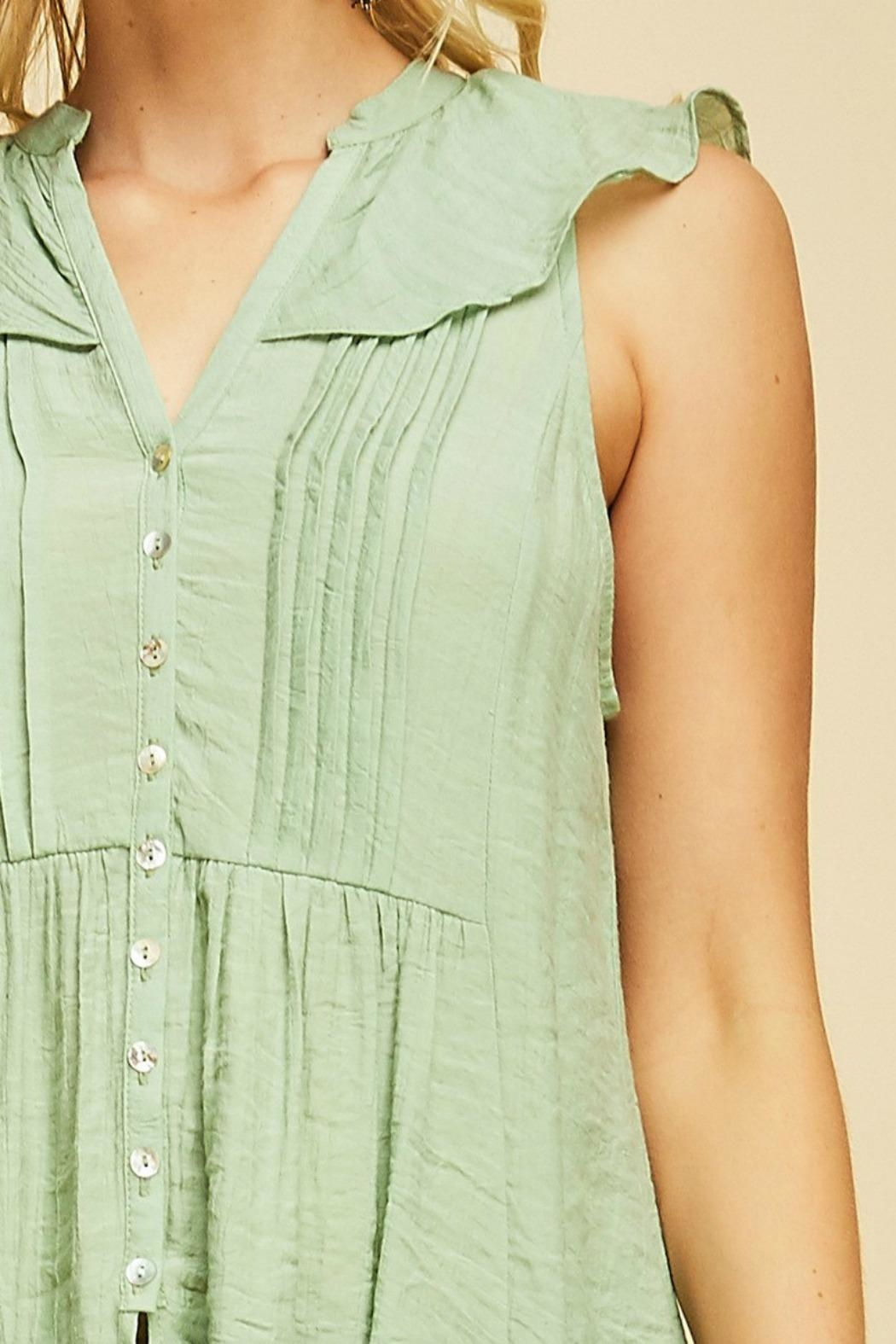 MHGS Button Up Tunic - Back Cropped Image