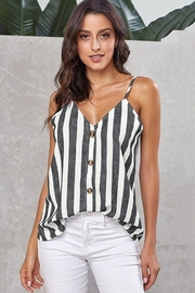 Shewin Button Up V Neck Cami - Product Mini Image
