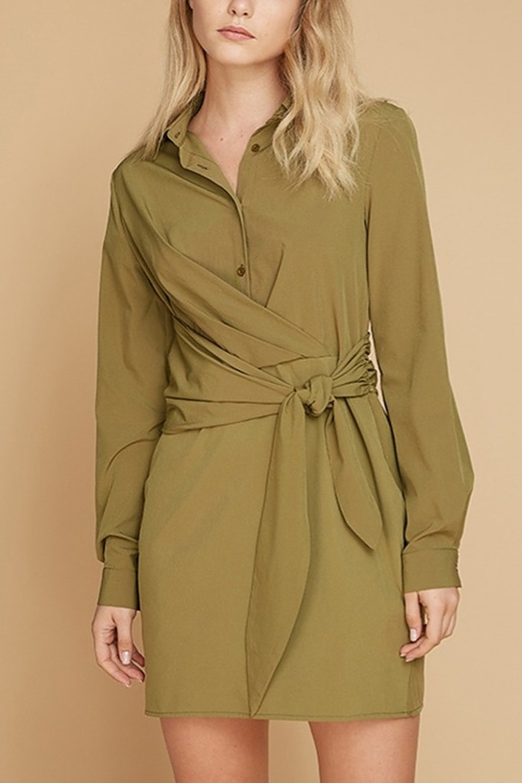 Lyn -Maree's Button Up Waist Tie Bow Dress - Main Image