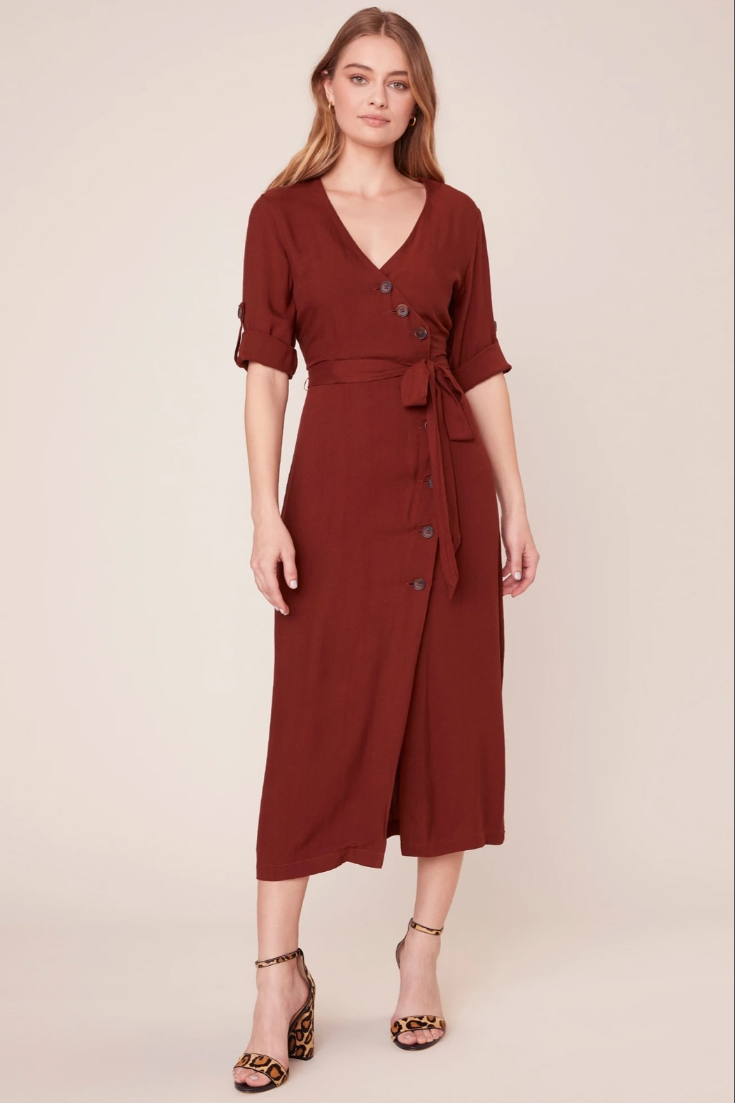 BB Dakota Button Up Your Story Dress - Side Cropped Image
