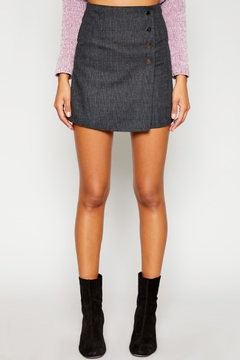 Sadie and Sage Button Wrap Skirt - Product List Image