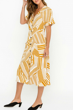 Lush  Buttoned Front Midi Dress - Product List Image