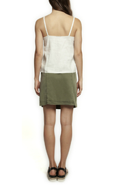 Dex Buttoned Front V-Neck Tank - Front full body