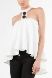 BEULAH STYLE Buttoned Sleeveless Halter - Product Mini Image