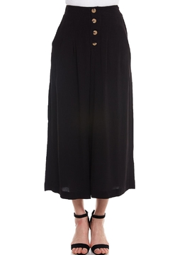 Shoptiques Product: Buttoned Wide-Leg Pant
