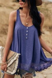 Lyn -Maree's Buttons & Lace Tank - Product Mini Image