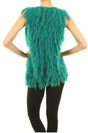 Buzz Teal Furry Vest - Front full body