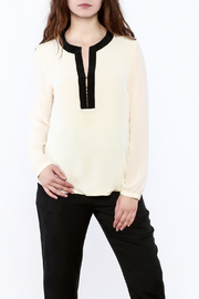 By Smith Soiree Contrast Blouse - Product Mini Image