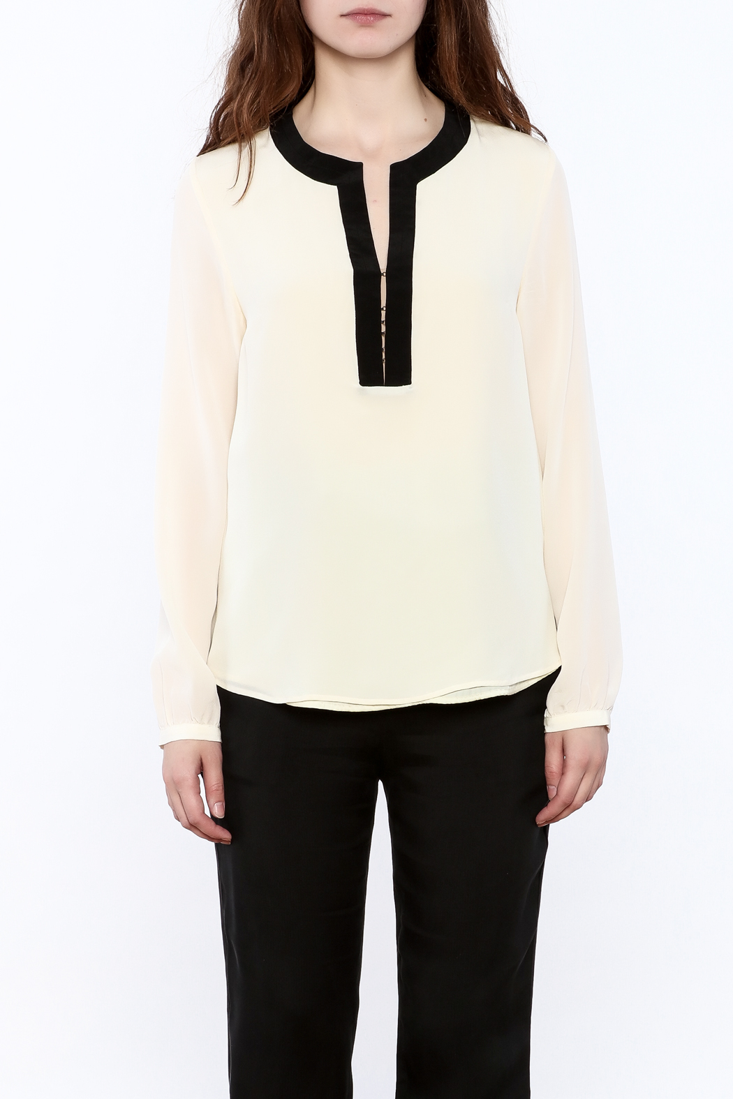 By Smith Soiree Contrast Blouse - Side Cropped Image