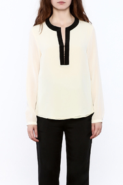 By Smith Soiree Contrast Blouse - Side cropped