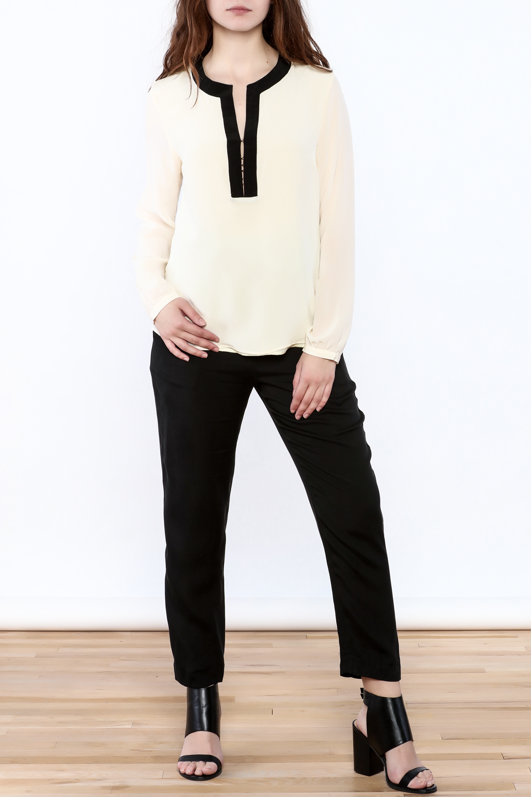 By Smith Soiree Contrast Blouse - Front Full Image