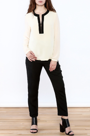 By Smith Soiree Contrast Blouse - Front full body
