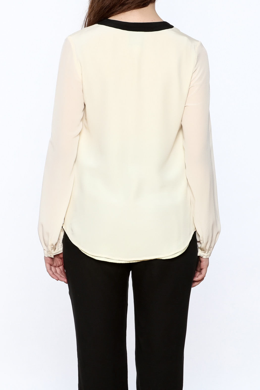 By Smith Soiree Contrast Blouse - Back Cropped Image