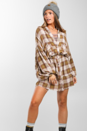 Free People By The Way Plaid Mini - Front cropped