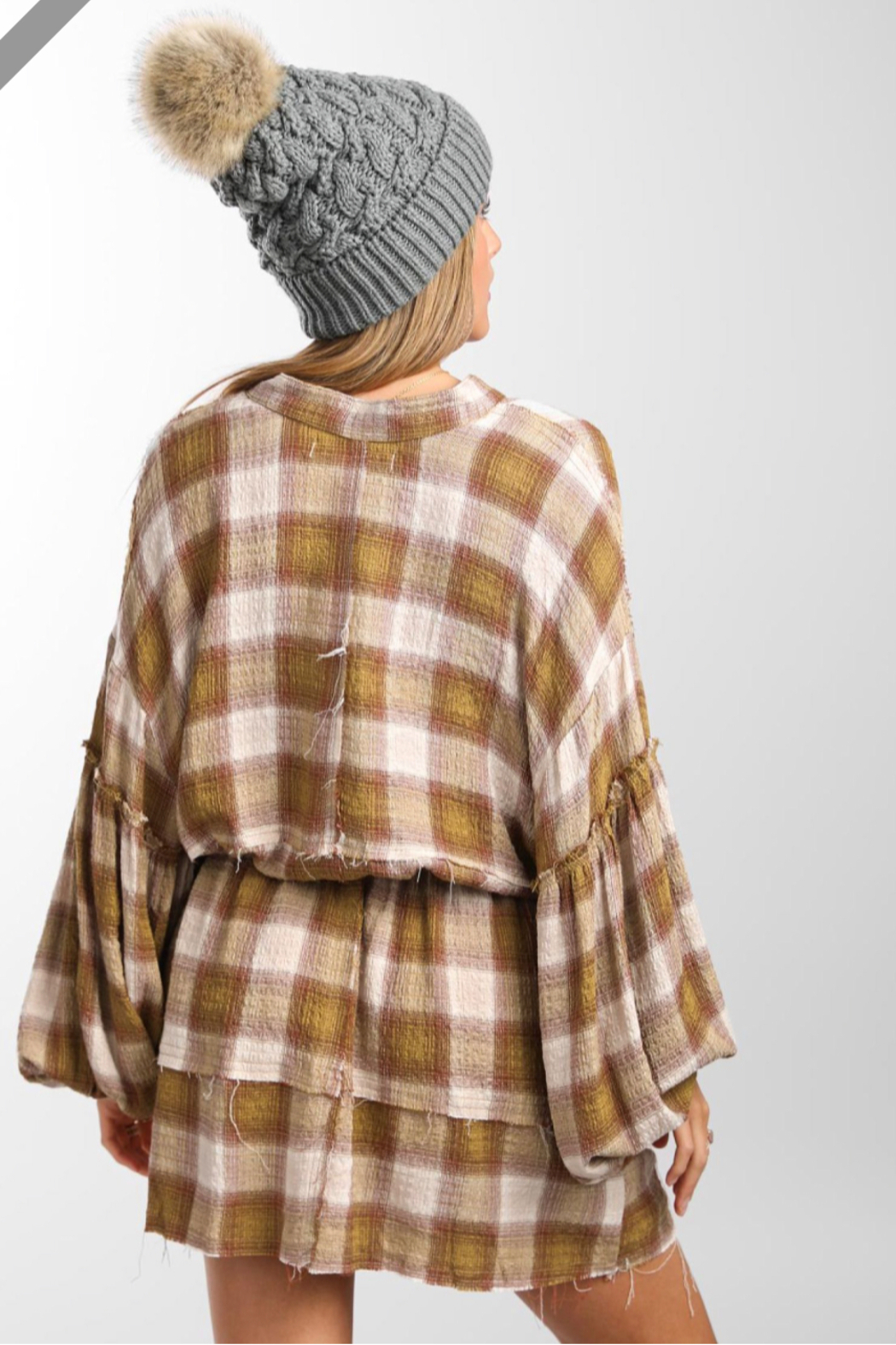 Free People By The Way Plaid Mini - Side Cropped Image