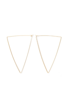 Shoptiques Product: Oversized Teardrop Hoops
