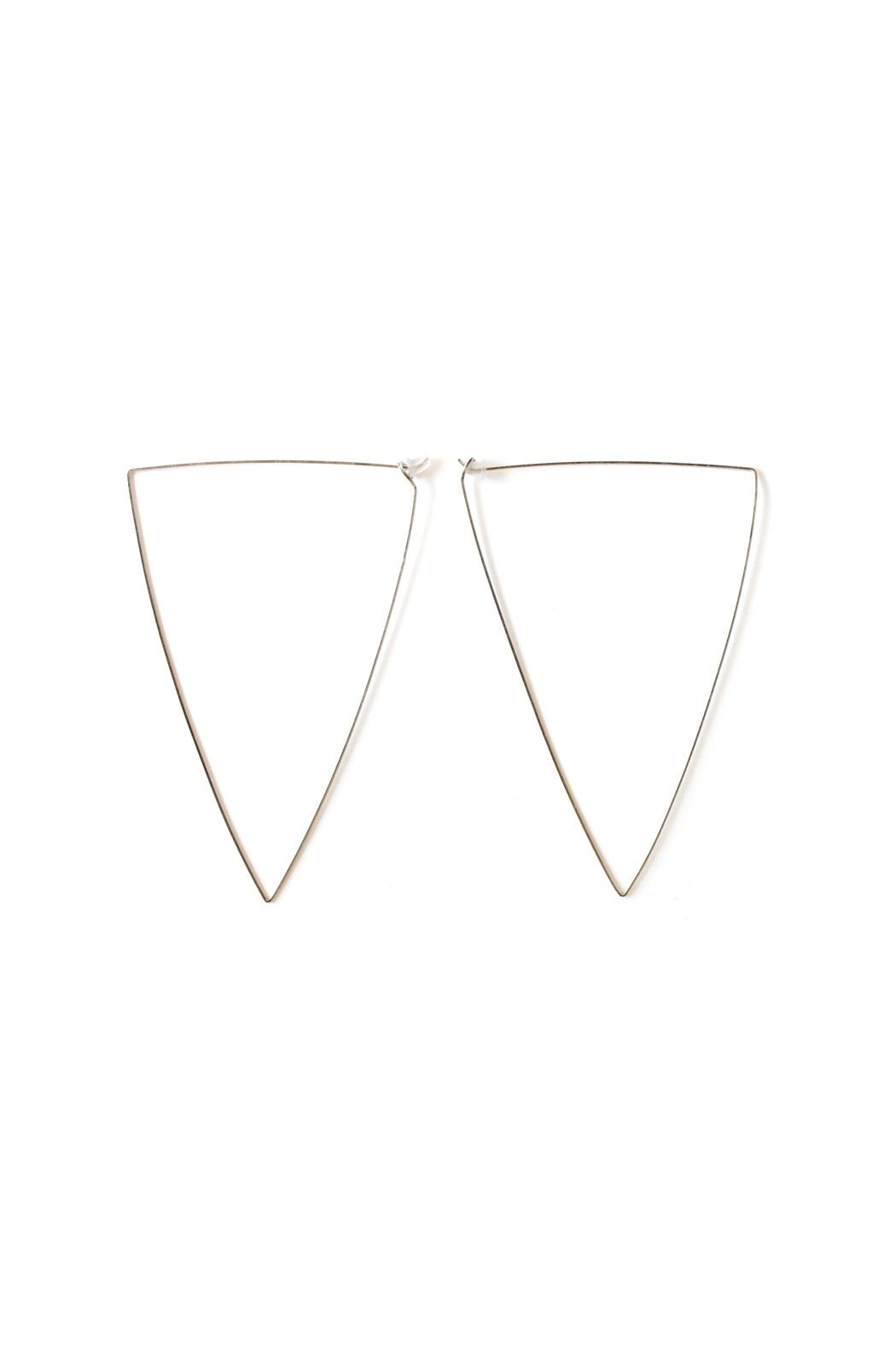 By Boe Oversized Triangle Hoops - Main Image