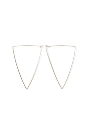By Boe Oversized Triangle Hoops - Front cropped