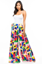 By Claude Comfy Multi Print Palazzo - Front cropped